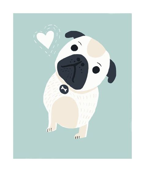 pug illustration 25 best ideas about pug illustration on pug wallpaper pug and