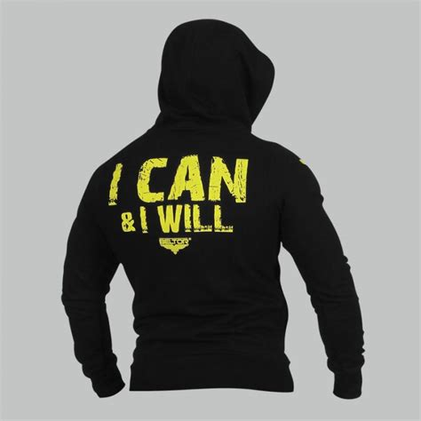 Hoodie I Can And I Will bluza zip hoodie i can i will black