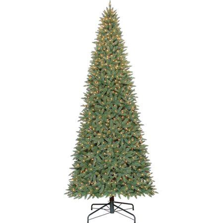walmart in store pre lit slim tree on sale time 12 pre lit williams slim set artificial tree clear lights