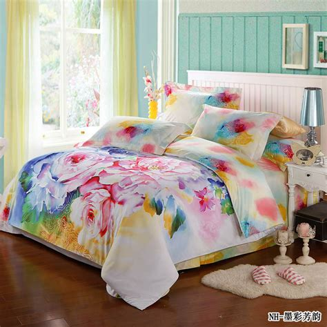 colorful comforter fresh 4pcs colorful rose comforter bedding sets romantic