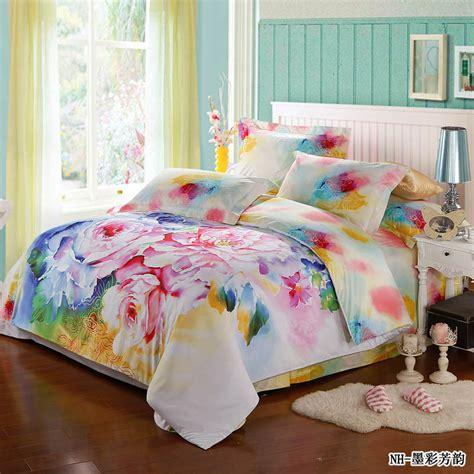 colorful comforter sets fresh 4pcs colorful rose comforter bedding sets romantic
