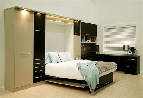 double fold  wall bed  side storage corner home