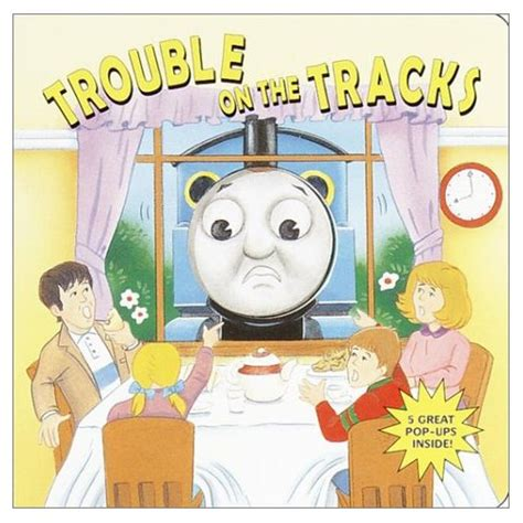 trouble in a green books trouble on the tracks pop up book the tank