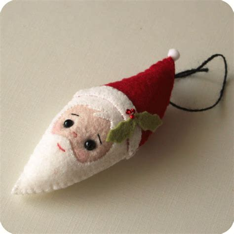 pattern felt christmas ornaments best photos of felt santa face pattern santa felt
