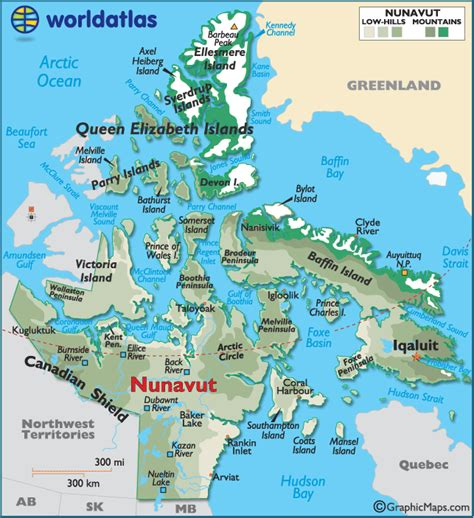 where is iqaluit on a map of canada image gallery nunavut geography