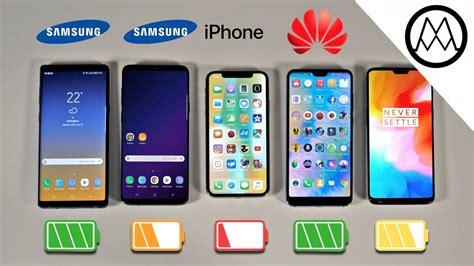 Samsung 9 Vs Iphone X Samsung Note 9 Vs S9 Iphone X Oneplus 6 Battery Drain Test Viralbiases
