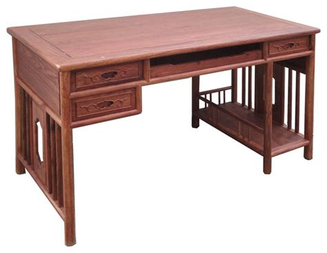 asian desk yellow rosewood modern writing desk asian desks and hutches other metro by