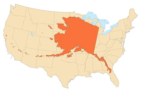 usa map with alaska alaska area compared to conterminous us mapsof net