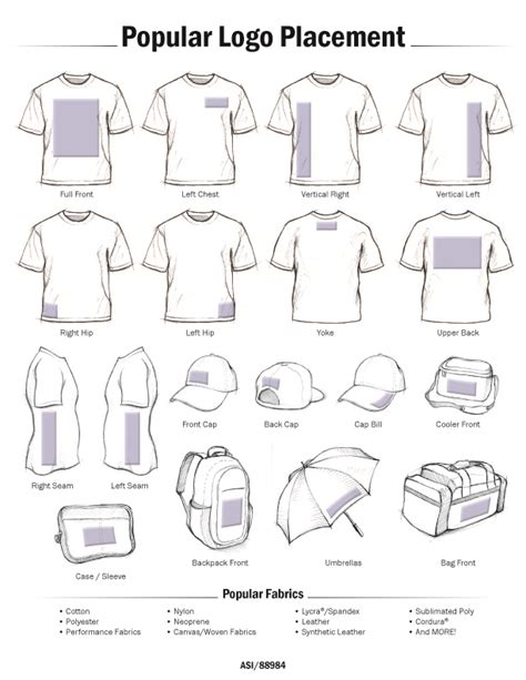 t shirt layout size learn about the most popular logo placement and design