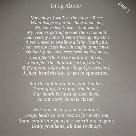 diction poem by lilly mandrell poem addiction poems My A