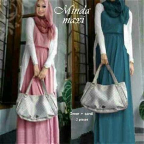 Dress Maxi Wanita Katun Jepang Busui Jumbo Putih Araselly gamis modern minda maxi model busana muslim dress