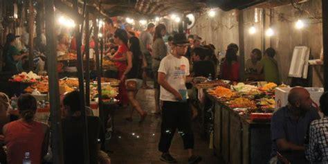 pasar malam murah meriah disukai para pelancong kompas