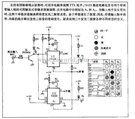 led power supply circuit diagram led display ttl level circuit power supply circuit