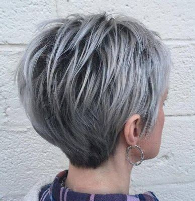 layered hairstyles for gray thinning hair best 20 short gray hair ideas on pinterest grey pixie