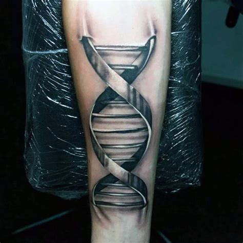 dna strand tattoo 60 dna designs for self replicating genetic ink