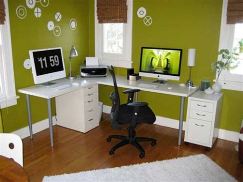 Decorating Office Desk Home Office Design Ideas