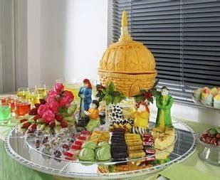 Tusuk Gigi Buah Tusuk Makan Buah Tusuk Buah Unik Tusuk Buah Lucu garnish buah kubah masjid fantasi dari labu kuning