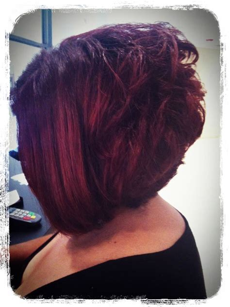 a line stacked bob search results for a line stacked haircut black