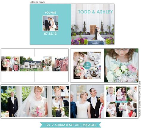 Wedding Album Template by Clean Style 12x12 Wedding Album Template Birdesign