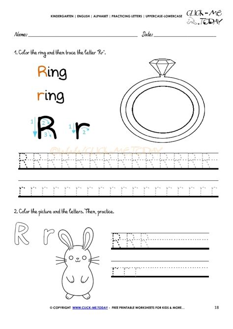 printable tracing letter r alphabet tracing worksheets how to write letter r