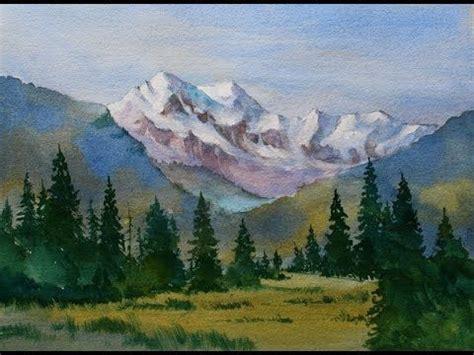 watercolor tutorial mountains best 25 watercolor landscape tutorial ideas on pinterest