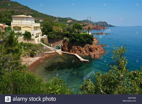 buy a house in the south of france france europe south of france cote d azur corniche de l esterel coast stock photo