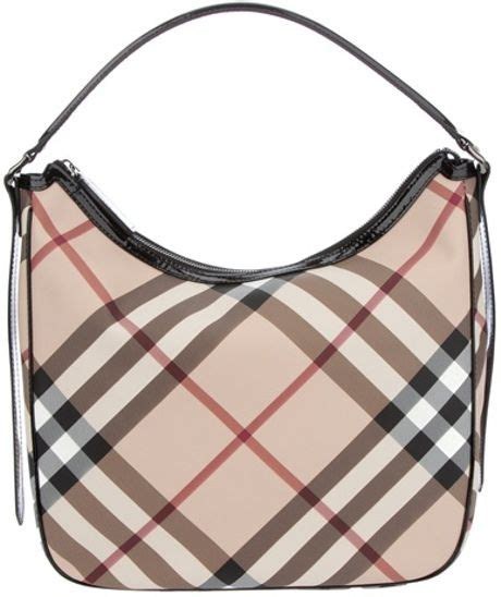 Burberry Signature Top burberry brit signature check bag in beige lyst