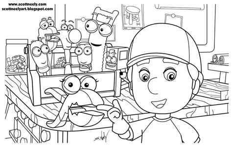 handy manny tools coloring pages