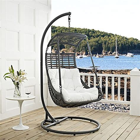 stand alone swings modway jungle patio stand alone swing chair bed bath
