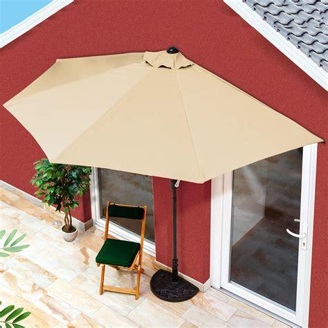 terrasse schirm balkon sonnenschirm halbrund beige g 228 rtner p 246 tschke