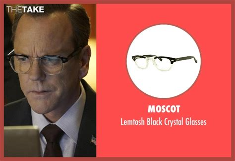 designated survivor kiefer sutherland glasses tom kirkman s black moscot lemtosh black crystal glasses