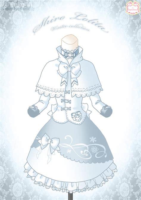 design winter clothes shiro lolita winter dress by neko vi on deviantart