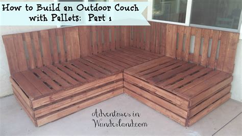 how to build pallet sofa how to build an outdoor couch with pallets part 1