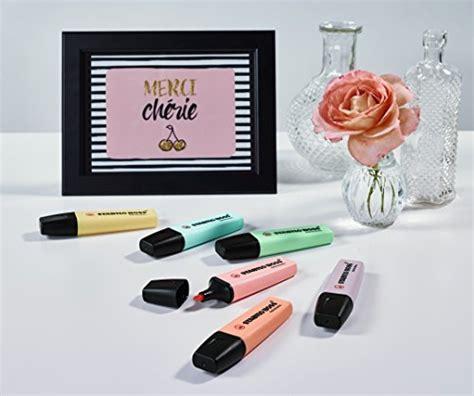 Highlighter Stabilo Pastel Colours stabilo highlighters pastel colours pack 6 import it all