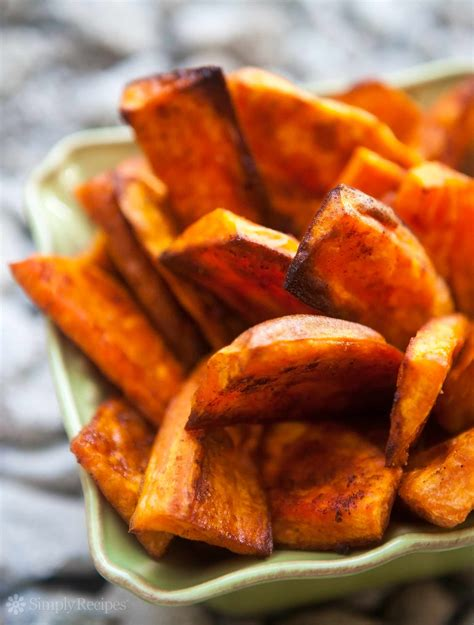 oven baked sweet potato fries recipe simplyrecipes com