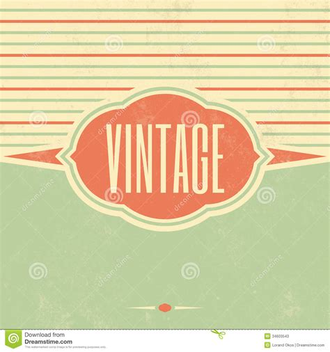 retro template design vintage background stock
