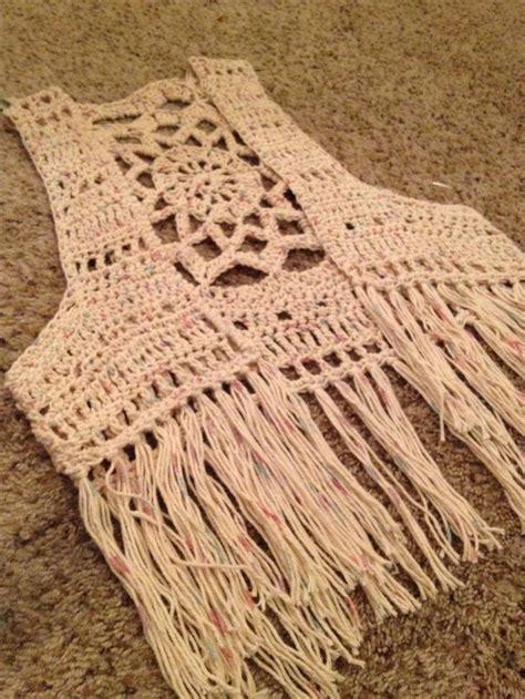 free crochet bohemian vest pattern crochet mandala fringe vest mandala patterns pinterest