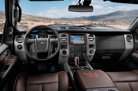 ford expedition interior 2016 2016 ford expedition king ranch interior motor trend