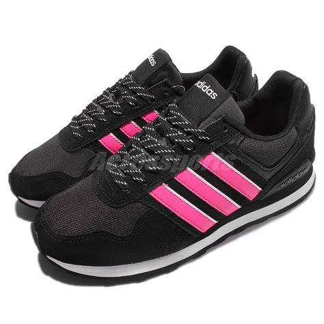 adidas neo label 10k w black pink classic shoes sneakers trainers b74714 ebay