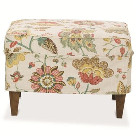 ottoman slipcovers square times square ottoman w slipcover by rowe furniture home