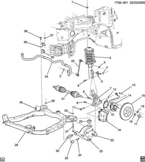 rear shock replacement 2006 chevrolet hhr shocks install hhr front end diagram trailblazer front end diagram