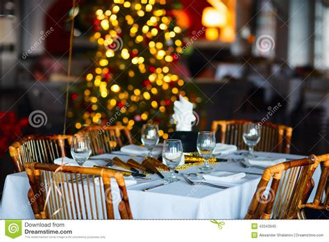 restaurant for christmas party table setting for stock photo image 43343945