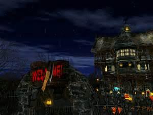 Backyard Bats 3d Halloween Holiday Screensaver For Windows
