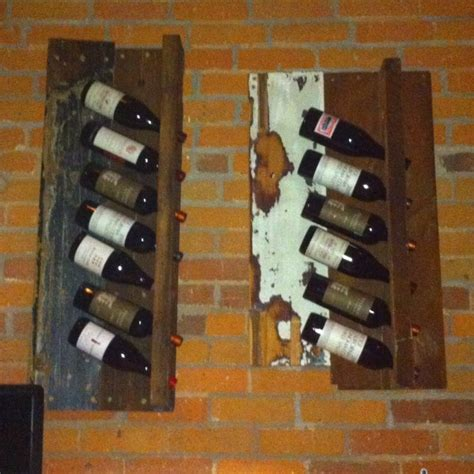 Wine Rack Board by Barn Board Wine Rack For The Home Wine