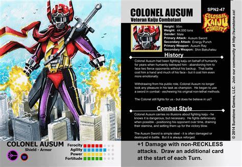 magic set editor card fighters clash template image colonel ausum evo jpg kaijucombat wiki fandom