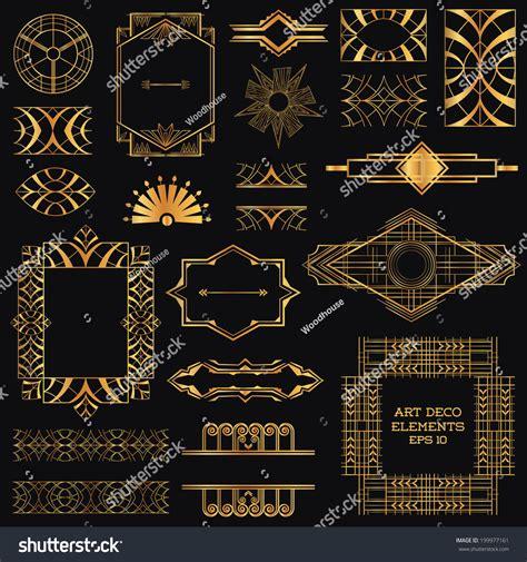 art deco design elements vector art deco vintage frames design elements stock vector