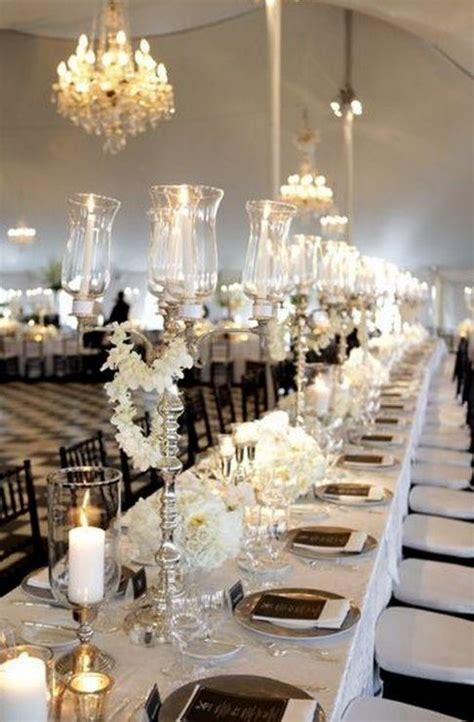 White Table Settings 52 Black And White Wedding Table Settings Weddingomania Weddbook