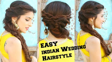 Braided Hairstyles For Medium Hair Indian by Wedding Hairstyle For Medium To Hair Fishtail Braid
