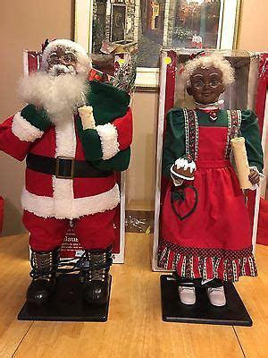 details  design arts vintage  animated african american black  santa claus guc