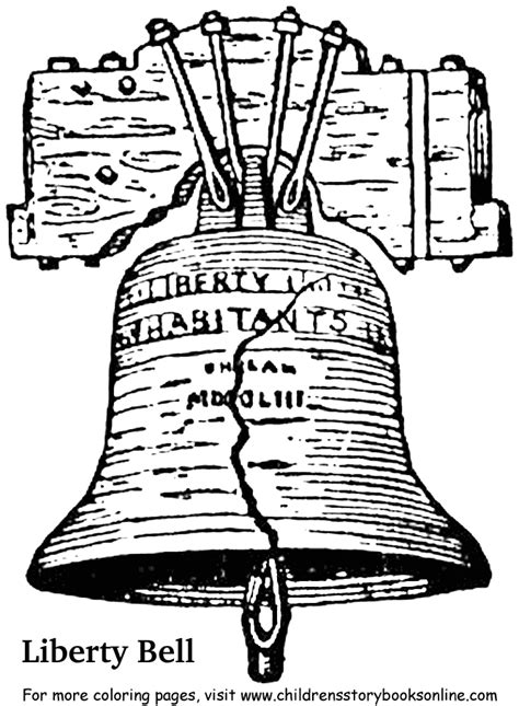 Liberty Bell Coloring Page Printable Coloring Pages Liberty Bell Coloring Page